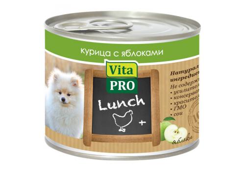 Консервы Vita Pro Lunch для собак, с курицей и яблоками 200г