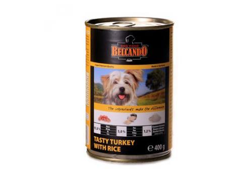 Консервы Belcando Quality Meat для собак, с индейкой и рисом, 400г