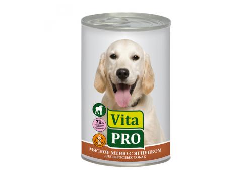 Консервы Vita Pro для собак, с ягненком 400г