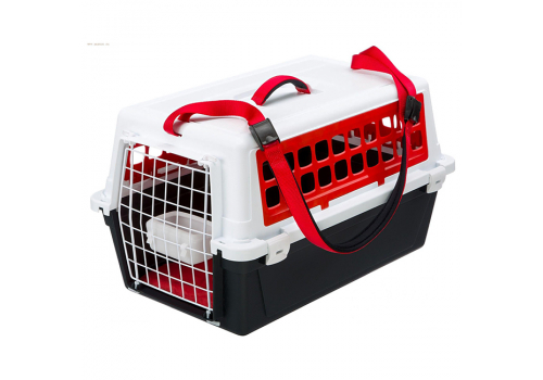 Контейнер-переноска Ferplast Atlas 10 Trendy Plus, для кошек и мелких собак, красный