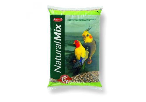 Корм для средних попугаев Padovan Naturalmix parrocchetti основной, 850г