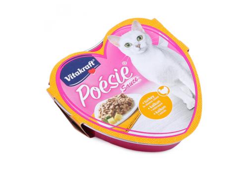 Консервы Vitakraft Poesie для кошек, индейка в сырном соусе 85г