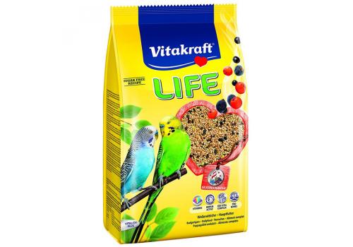 Корм для волнистых попугаев Vitakraft Life Power Nature, 800г