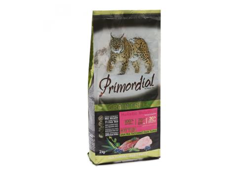 Корм Primordial Kitten для котят беззерновой, утка/индейка 2кг