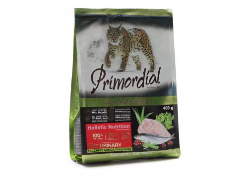 Корм Primordial Urinary для кошек с мочекаменной болезнью, индейка/сельдь 400г