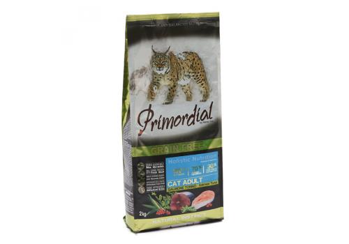 Корм Primordial Adult для кошек беззерновой, лосось/тунец 2кг