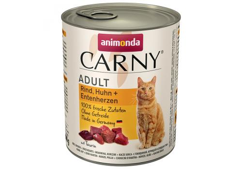 Консервы Animonda Carny Adult для кошек, с говядиной, курицей и уткой 800г
