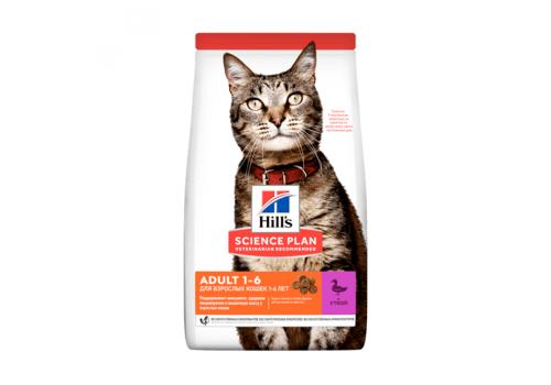 Корм Hill's SP Optimal Care Adult для кошек, с уткой 1,5кг