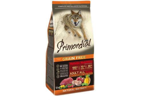 Корм Primordial для собак, беззерновой, буйвол/скумбрия 12кг