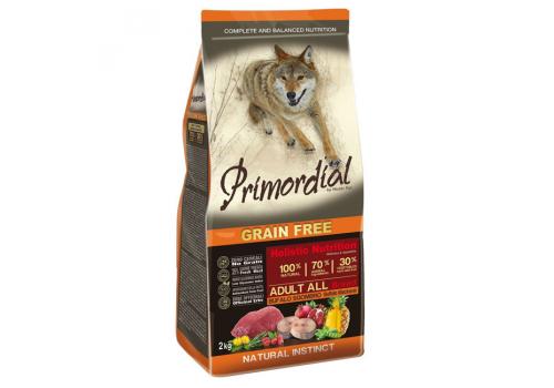 Корм Primordial для собак, беззерновой, буйвол/скумбрия 2кг