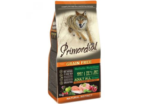 Корм Primordial для собак, беззерновой, курица/лосось 12кг