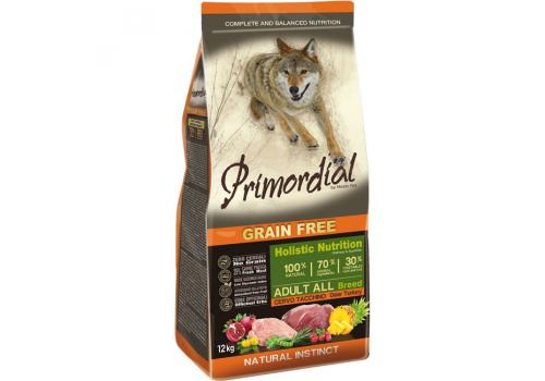 Корм Primordial для собак, беззерновой, оленина/индейка 12кг
