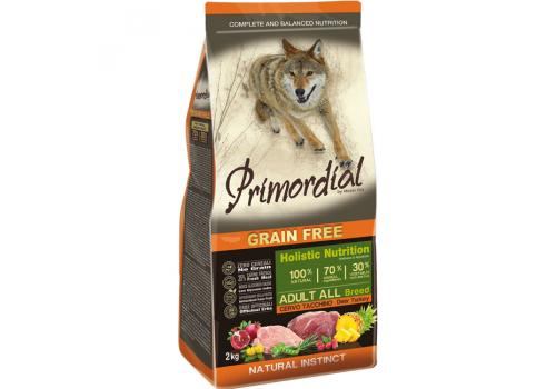 Корм Primordial для собак, беззерновой, оленина/индейка 2кг