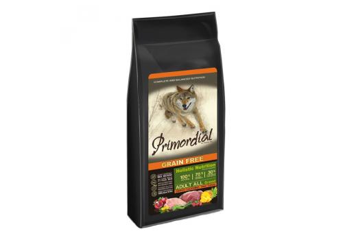 Корм Primordial для собак, беззерновой, оленина/индейка 400г