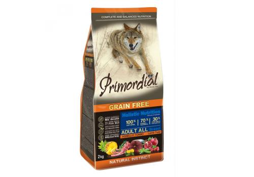 Корм Primordial для собак, беззерновой, тунец/ягненок 2кг