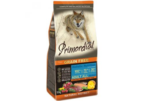 Корм Primordial для собак, беззерновой, форель/утка 12кг