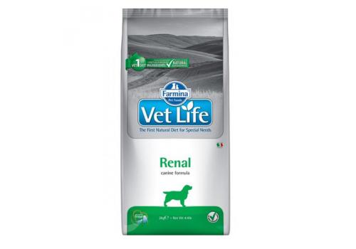 Диета Farmina Vet Life Dog Renal для собак, при заболеваниях почек 2кг