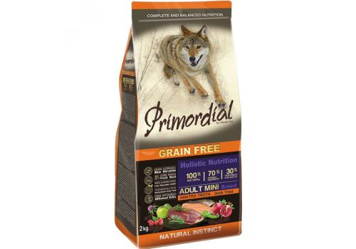 Корм Primordial для собак мелких пород, беззерновой, форель/утка 2кг