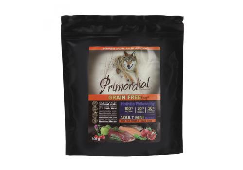Корм Primordial для собак мелких пород, беззерновой, форель/утка 400г