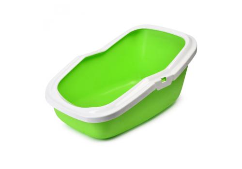 Туалет Savic Aseo для кошек, с высокими бортами, зеленое яблоко