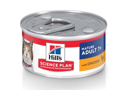 Влажный корм Hill's Science Plan для пожилых кошек, поддержание здоровья в процессе старения, 82г