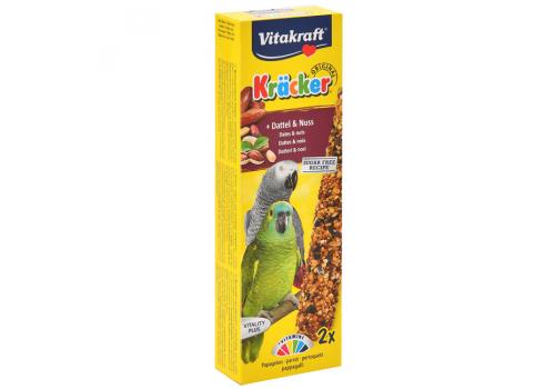 Лакомство для птиц Vitakraft Крекеры для африканских попугаев фрукты и орехи, 2шт