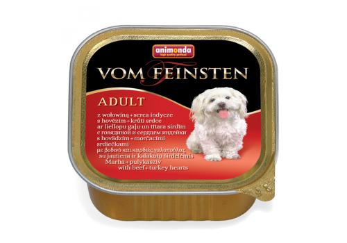 Консервы Animonda Vom Feinsten Adult для собак, с говядиной и сердцем индейки 150г