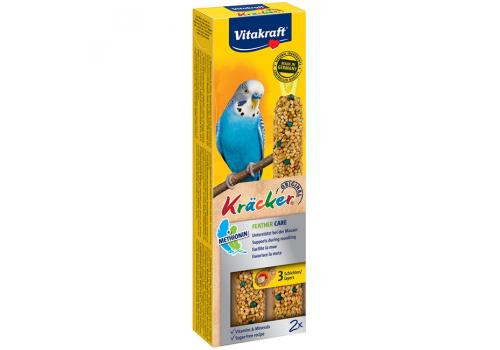 Лакомство для птиц Vitakraft Крекеры для волнистых попугаев при линьке, 2шт