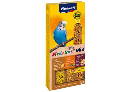 Лакомство для птиц Vitakraft Крекеры для волнистых попугаев с мед, яйцо, фрукты, 3шт