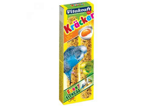 Лакомство для птиц Vitakraft Крекеры для волнистых попугаев яичные, 2шт