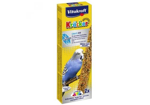 Лакомство для птиц Vitakraft Крекеры для волнистых попугаев с мед и кальций, 2шт