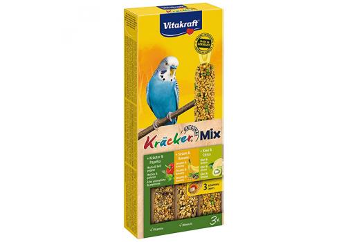 Лакомство для птиц Vitakraft Крекеры для волнистых попугаев паприка, банан, киви, 3шт