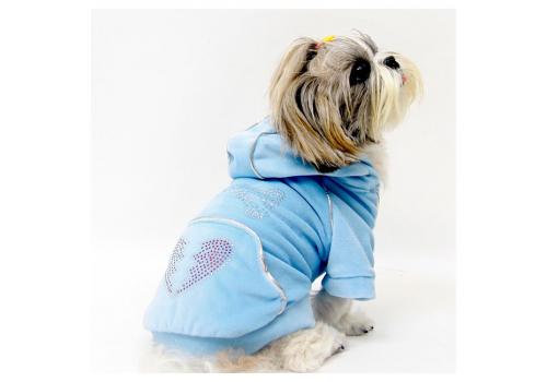 Толстовка DOG*DOG collection S350LB, голубая, размер L (35-37 см.)