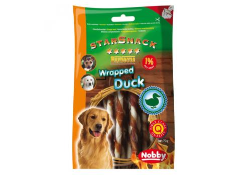 Лакомство Nobby для собак утиные палочки крученые 70г