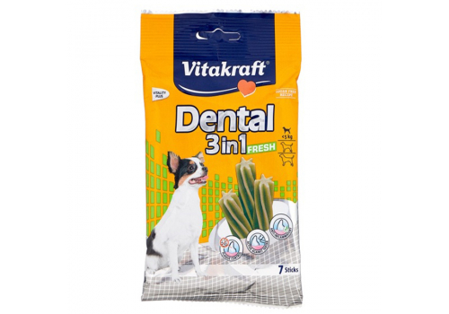 Жевательные палочки Vitakraft Dental 3in1 Fresh для собак до 5кг