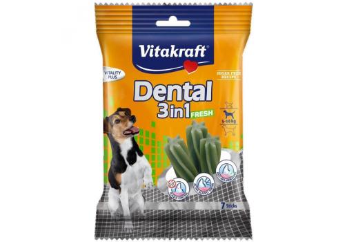 Жевательные палочки Vitakraft Dental 3in1 Fresh для собак от 5 до 10кг