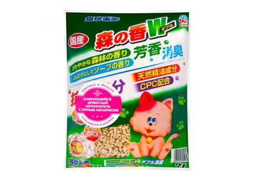 Наполнитель Japan Premium Pet древесный с кипарисом 7л