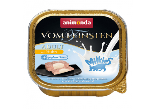 Консервы для кошек Animonda Vom Feinsten Milkies, с курицей и йогуртовой начинкой, 100г