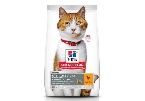 Корм Hill's SP Sterilised Adult для стерилизованных кошек, с курицей 3кг