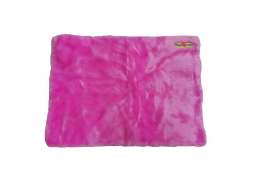 Лежак Karlie Sleep Love для собак, розовый, 60х50х8см