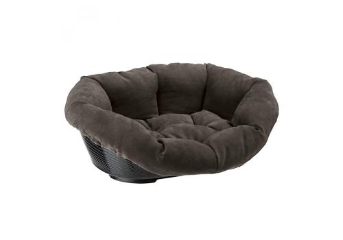 Лежак Ferplast Sofa Prestige 6 для кошек и собак, с мягкой подушкой, коричневый