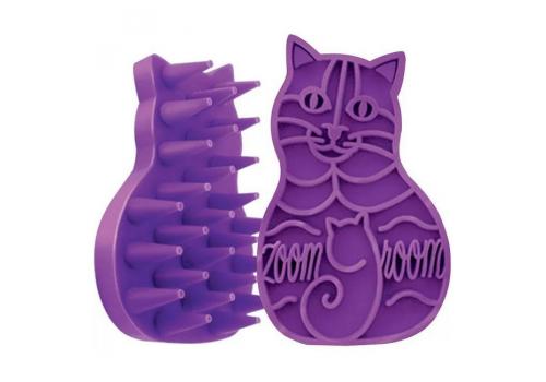 Пуходерка-щетка резиновая Киса, для кошек и собак