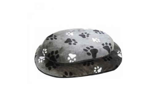 Лежанка Lilli Pet Paws для собак, черно-серая, 60х40х8см