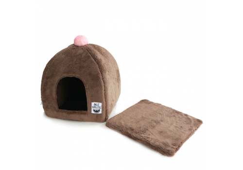 Домик для кошки Монстрик L Коричневый #224