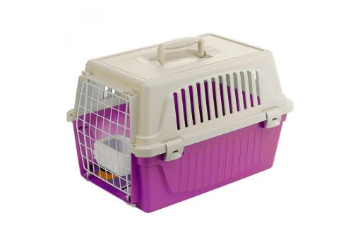 Контейнер-переноска Ferplast Atlas 10 для кошек и мелких собак, фуксия